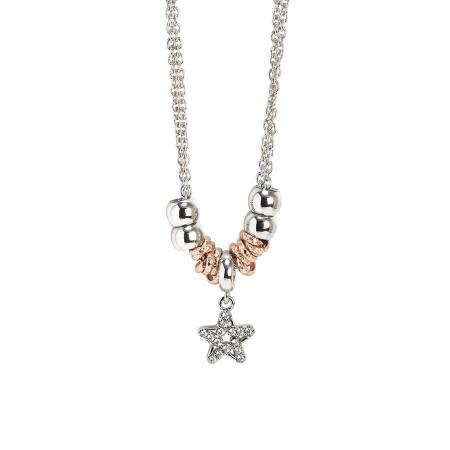 Collana con pendente a forma di stella e zirconi
