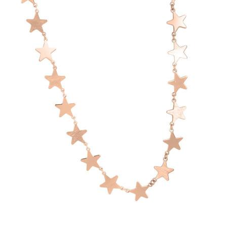 Collana rosata con stelle