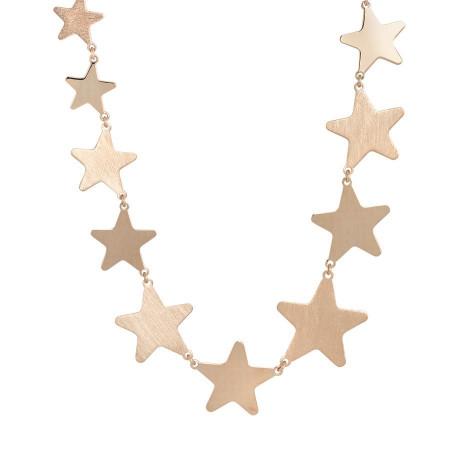 Collana rosata con stelle degradè