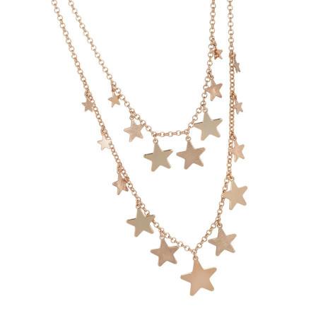 Collana doppiofilo degradè con stelle