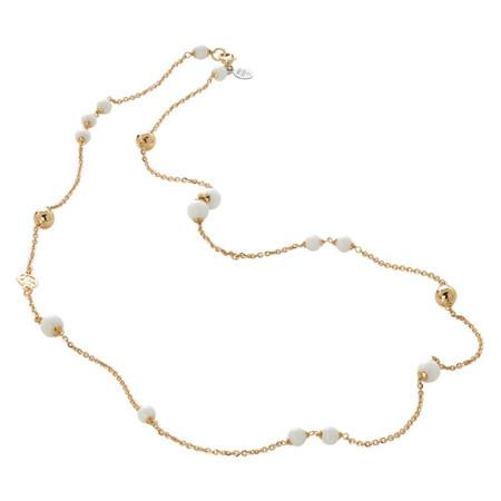 Collana dorata con agata white