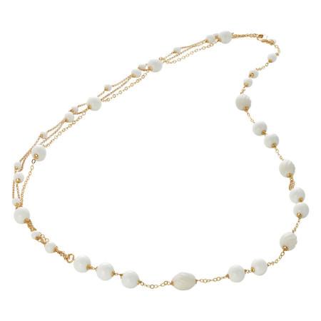 Collana con agata white e white torchon