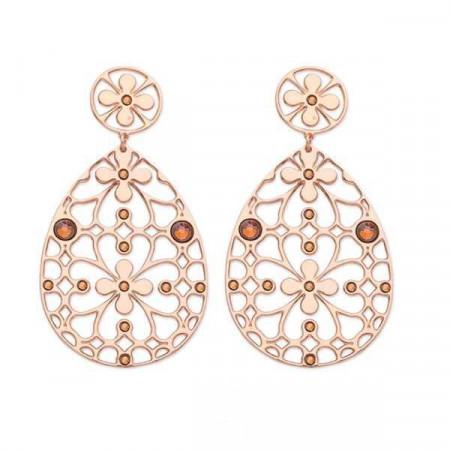 Orecchini in bronzo e cristalli Swarovski copper
