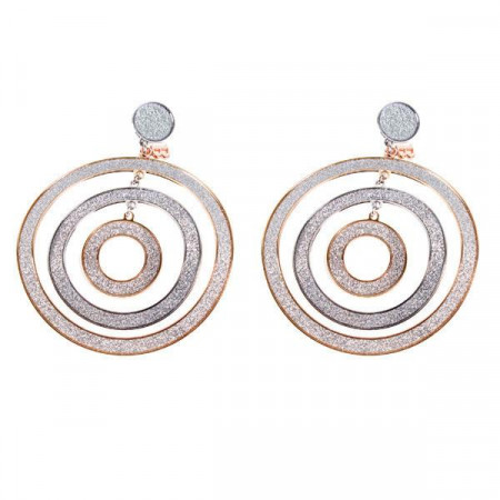 Orecchini con pendente a tre cerchi concentrici