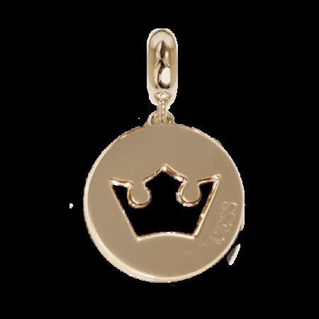 Charm dorato con profilo di corona traforato