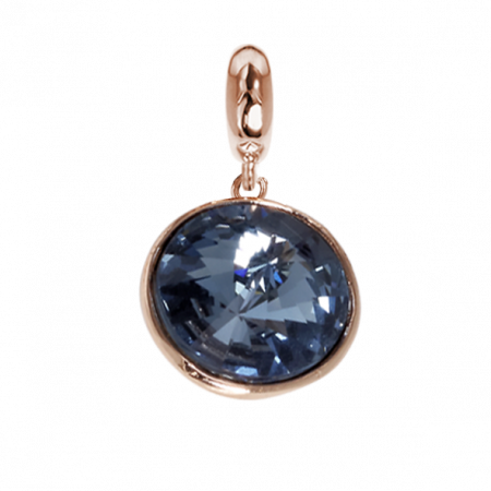 Charm con cristallo Swarovski denim blue