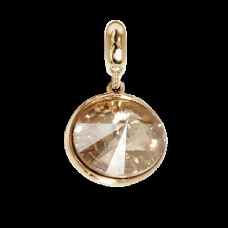 Charm con cristallo Swarovski golden shadow