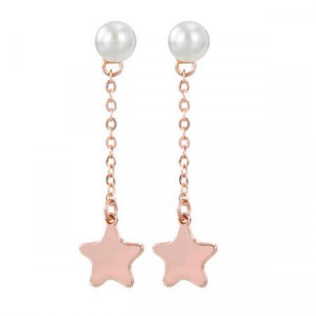 Orecchini intercambiabili con perla Swarovski e pendente a stella