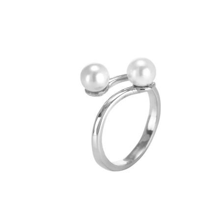 Anello con perle Swarovski bianche