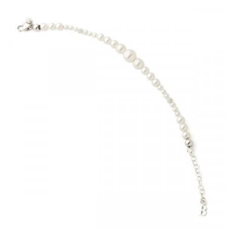 Bracciale in argento e perle Swarovski bianche