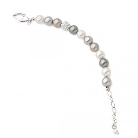 Bracciale in argento e perle Swarovski colorate