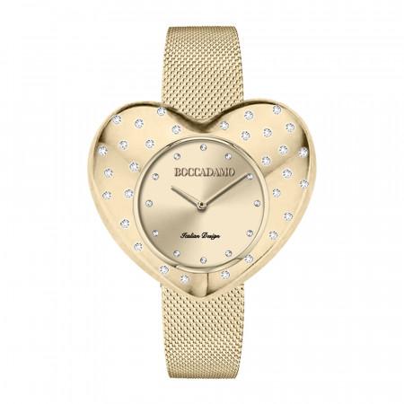 Orologio gold con quadrante a cuore e cristalli Swarovski a pioggia