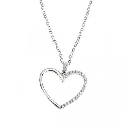 Collana in argento con cuore pendente