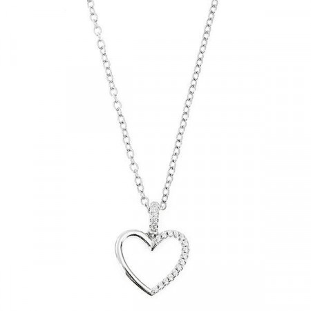 Collana in argento con pendente a forma di cuore