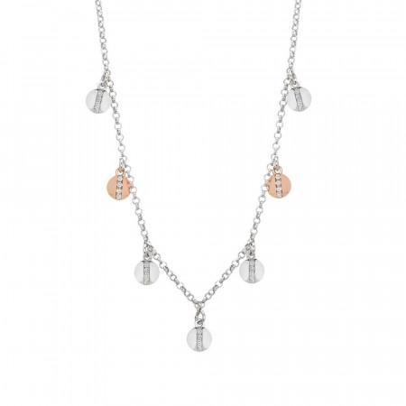 Collana d'argento con charms bicolor