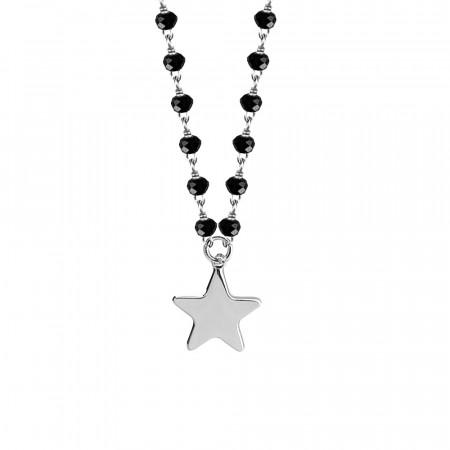 Collana con cristalli neri e stella