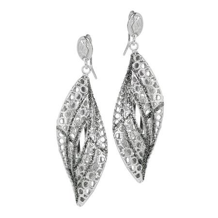 Orecchini in argento con pendente a spirale