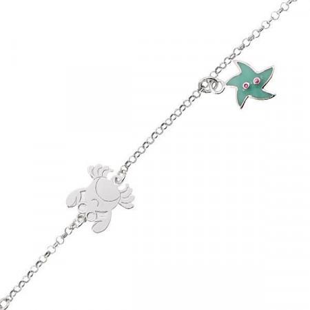 Bracciale in argento con stella marina