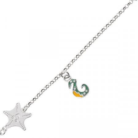Bracciale in argento con cavalluccio marino