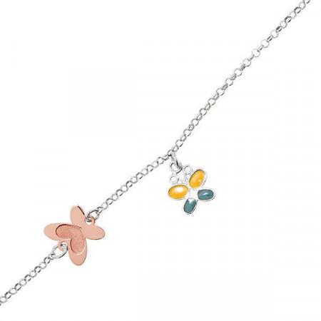 Bracciale in argento con farfalla