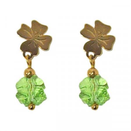 Orecchini pendenti con Swarovski verde