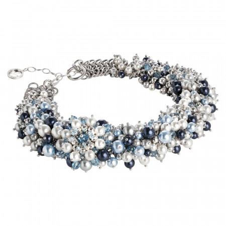 """Collana di perle e cristalli Swarovski ispirazione """"Inverno"""""""