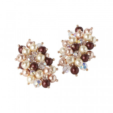 """Orecchini con composizione pendente di cristalli e perle Swarovski ispirazione """"Autunno"""""""
