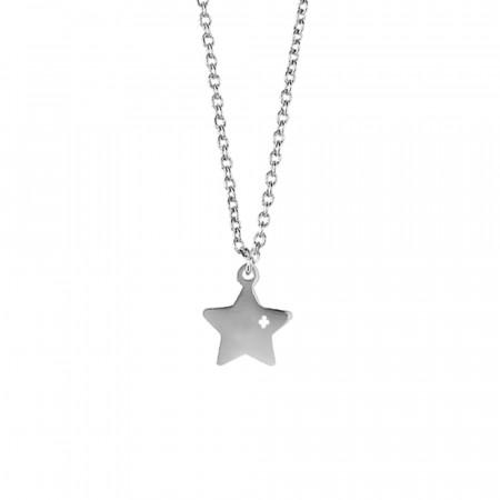 Collana in acciaio con stella pendente