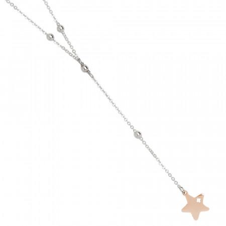 Collana a Y bicolor con stella pendente