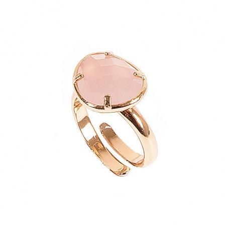 Anello regolabile con cristallo rosa