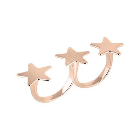 Anello doppio con stelle