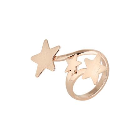 Anello contrariè rosato con stelle degradè