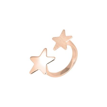 Anello aperto rosato con stelle