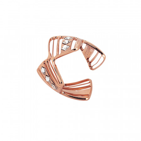 Anello asimmetrico rosato con Swarovski