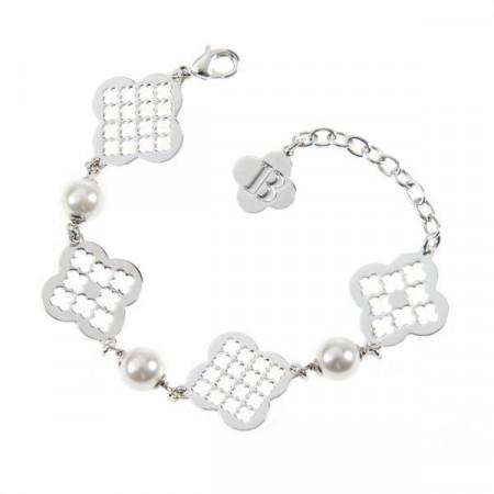 Bracciale modulare con perle Swarovski e motivi decorativi a croce