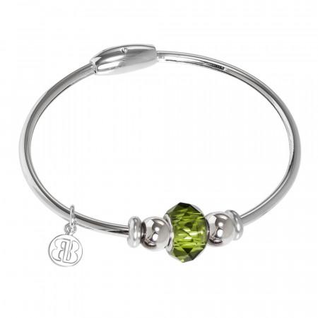 Bracciale con passante in cristallo Swarovski emerald