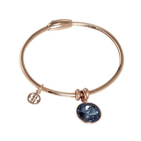 Bracciale con charm in cristallo Swarovski denim blu