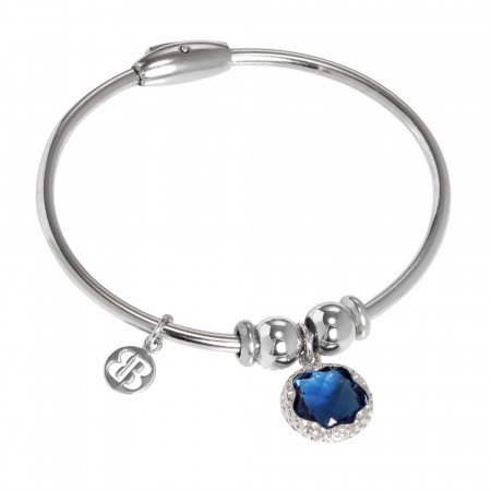 Bracciale con charm in cristallo Swarovski blu London