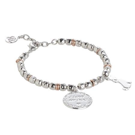 "Bracciale beads con medaglietta ""I love my dog"""