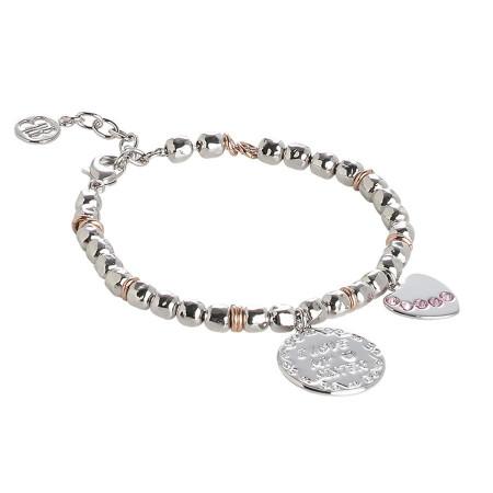 """Bracciale beads con medaglietta """"I love my sister"""""""