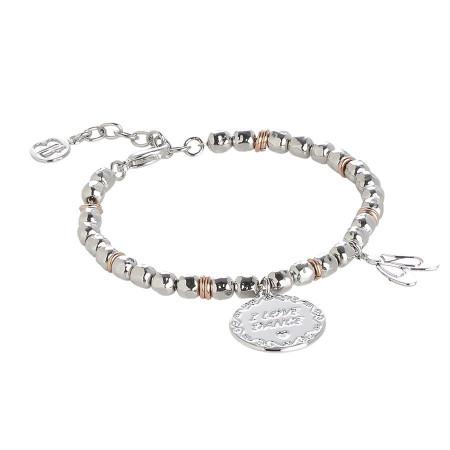 """Bracciale beads con medaglietta """"I love dance"""""""