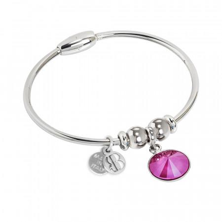 Bracciale con cristallo Swarovski crystal peony pink