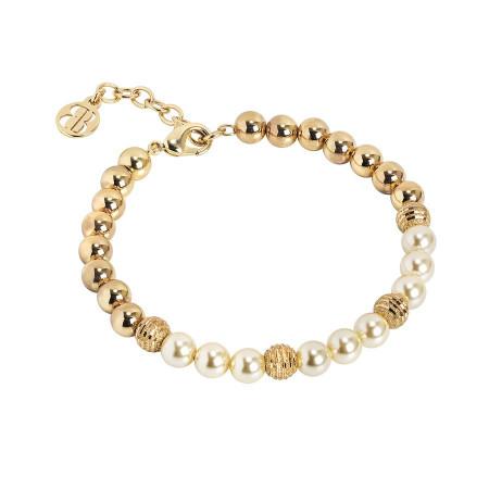 Bracciale dorato con perle Swarovski light gold