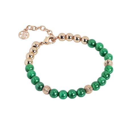 Bracciale con perle di agata verde