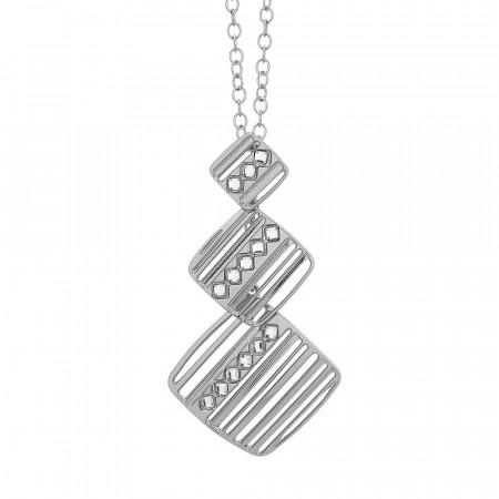 Collana con pendente modulare decorato da Swarovski