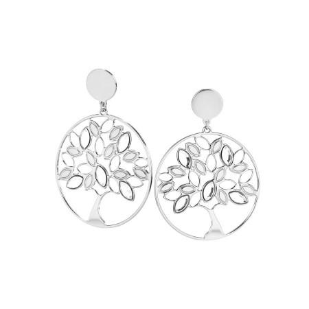Orecchini con albero della vita e Swarovski crystal
