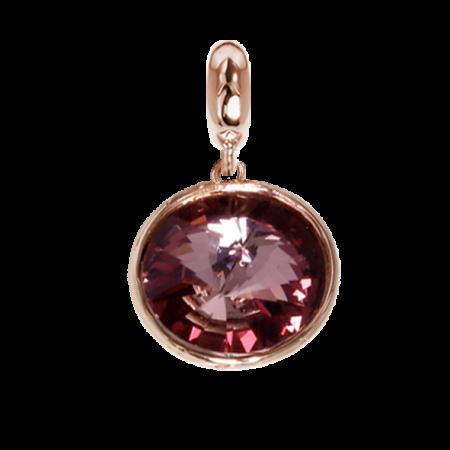 Charm con cristallo Swarovski antique pink