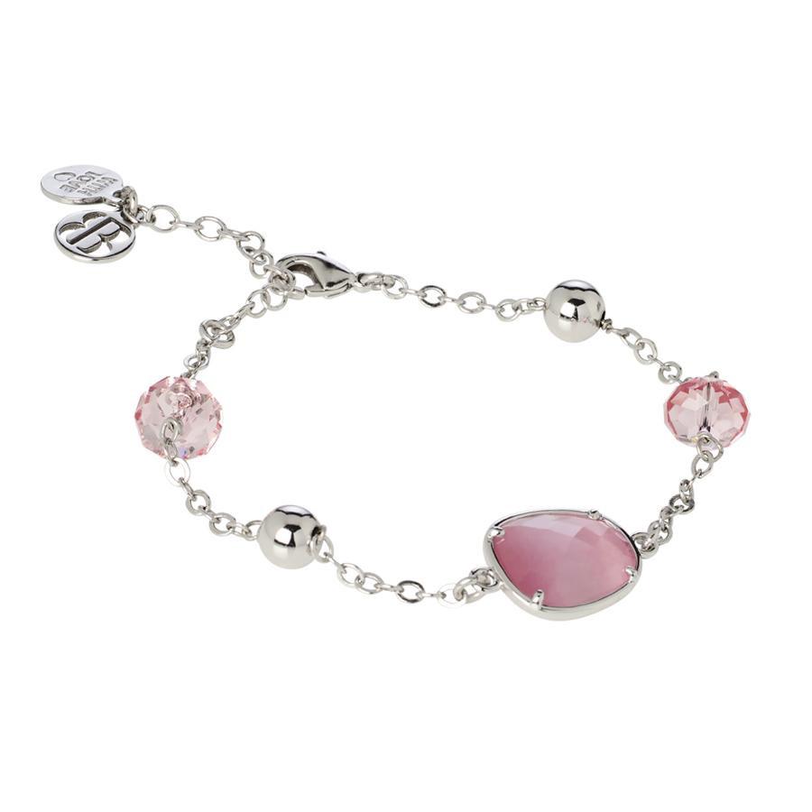 check-out c7820 1b323 Bracciale con cristalli Swarovski light rose e centrale rosa