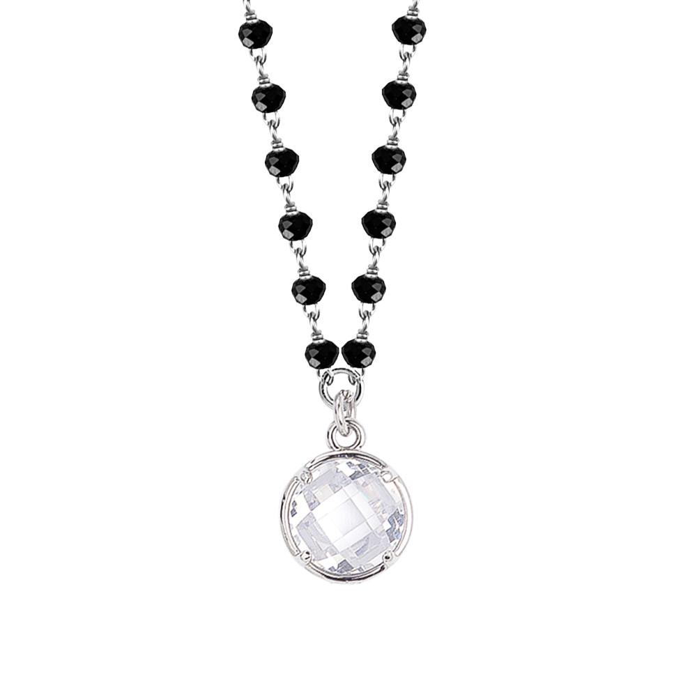 design di qualità 22550 c568e Collana con cristalli neri e cristallo crystal pendente - Prodotti