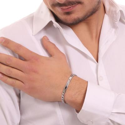 Bracciale maglia grumetta con timone
